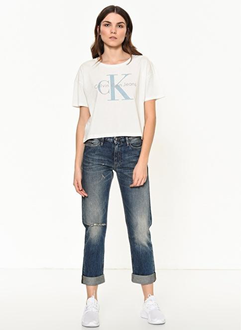 Calvin Klein Jean Pantolon | Boyfriend Lacivert